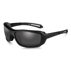 Image of Wiley X Wave Black Ops Sunglasses - Smoke Grey Lenses/Matte Black Frame