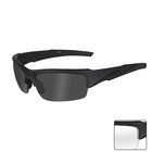 Image of Wiley X Valor Sunglasses - Matte Black / Smoke Grey & Clear