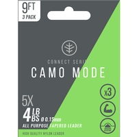 Wychwood Connect Series Camo Mode Tapered Leaders - 9ft