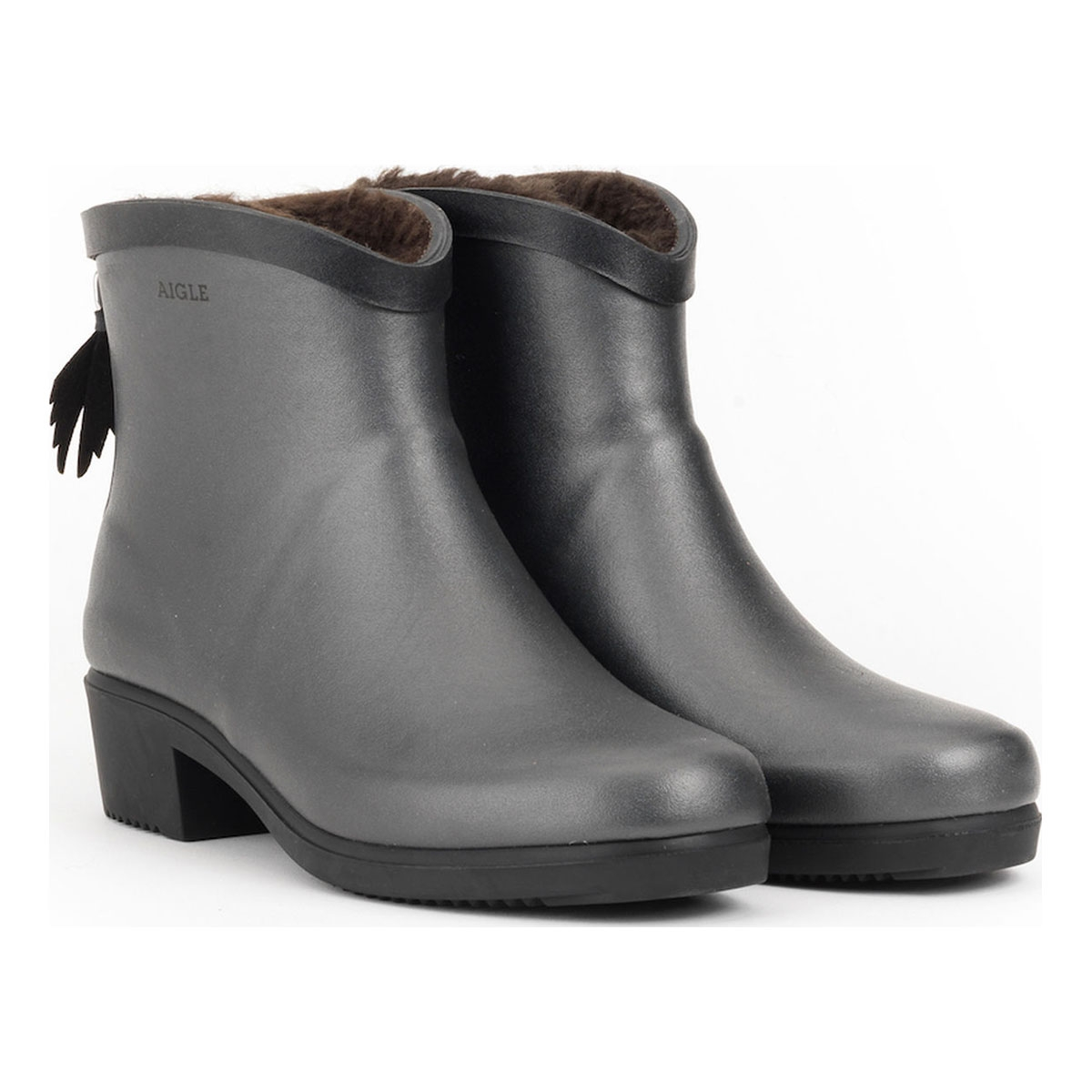 c03633eb498cc ... Image of Aigle Miss Juliette Bottillon Fur Ankle Boots (Women s) -  Metallic. «
