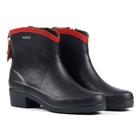 Image of Aigle Miss Juliette Bottillon Fur Ankle Boots (Women's) - Marine/Rouge