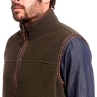 Image of Aigle Shepper Polartec Sheepskin Fleece Gilet - Mouton Bronze Chine