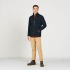 Image of Aigle Valefleece Knit Fleece Jacket - Dark Navy