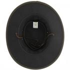 Image of Barmah Oilskin Foldaway WP Oiled Cotton Hat - Dark Brown