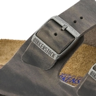 Image of Birkenstock Arizona Oiled Leather SFB Sandals - Iron