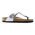 Image of Birkenstock Gizeh Birko-Flor Synthetic Leather Sandals (Women's) - Silver