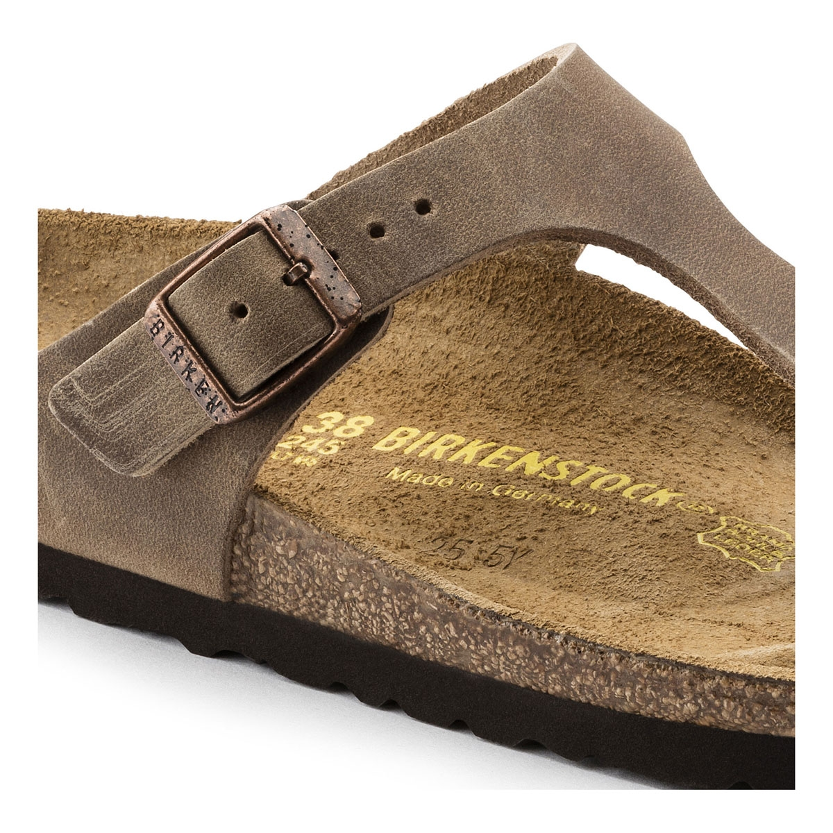 060a0d82d14 ... Image of Birkenstock Gizeh Oiled Leather Sandals (Women s) - Tabacco  Brown