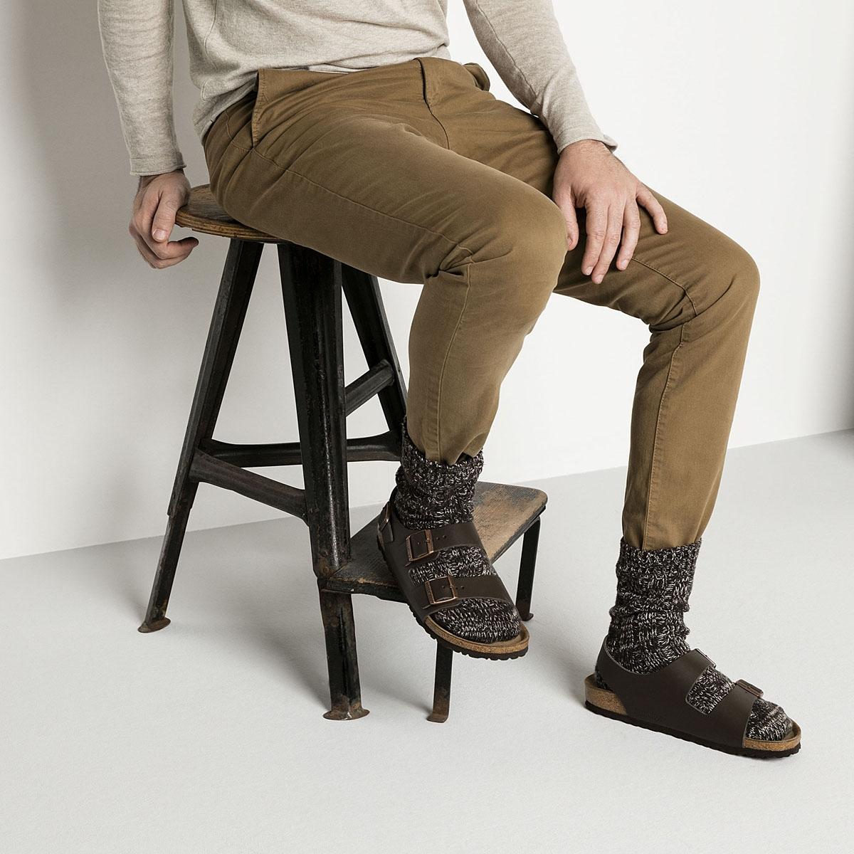 2518539b2a962 Birkenstock Milano Smooth Leather Sandals (Men's) - Dark Brown