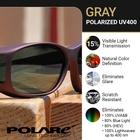 Image of Cocoons Wide Line Polarized Sunglasses - Black Frame / Grey Lens