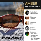Image of Cocoons Wide Line Polarized Sunglasses - Black Frame / Amber Lens