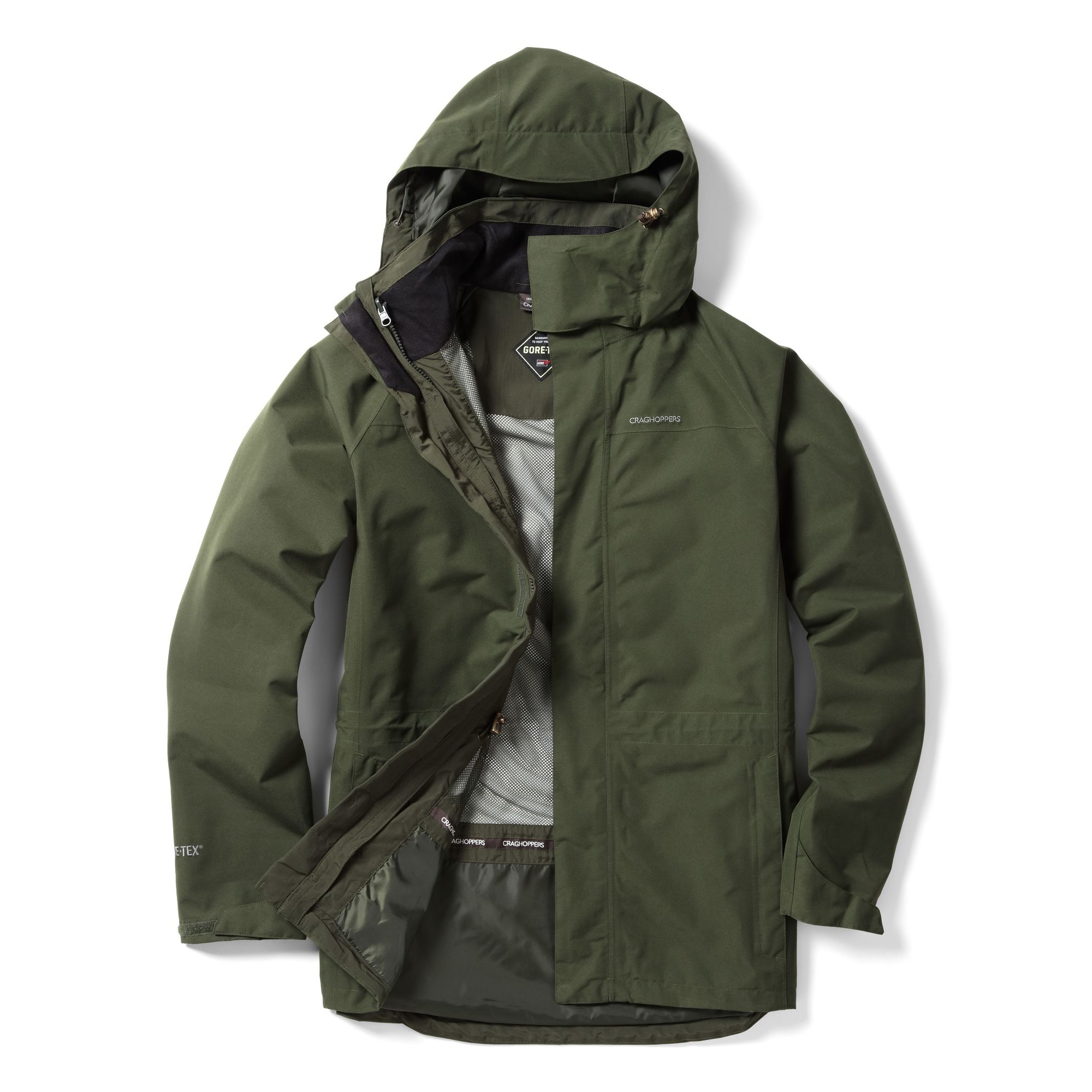 887d9b7050 ... Image of Craghoppers Ashton GTX Interactive Jacket - Evergreen