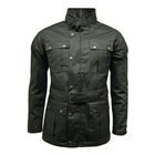 Image of Game Continental Wax Jacket - Black