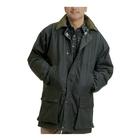 Image of Game Padded Wax Jacket - Olive