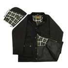 Image of Game Unpadded Wax Jacket - Black