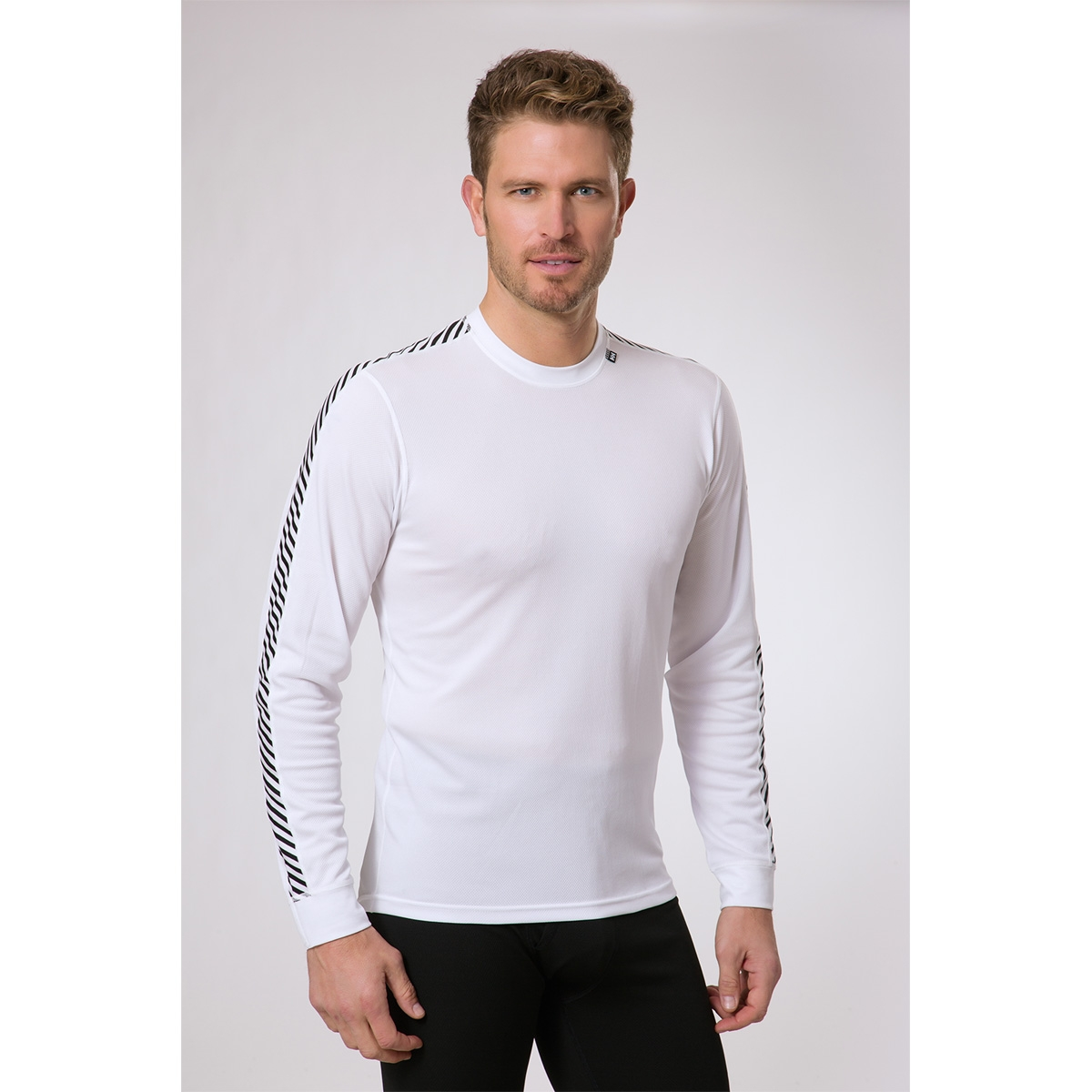 c7752a2bbe ... Image of Helly Hansen HH Dry Mens Stripe Crew - White ...