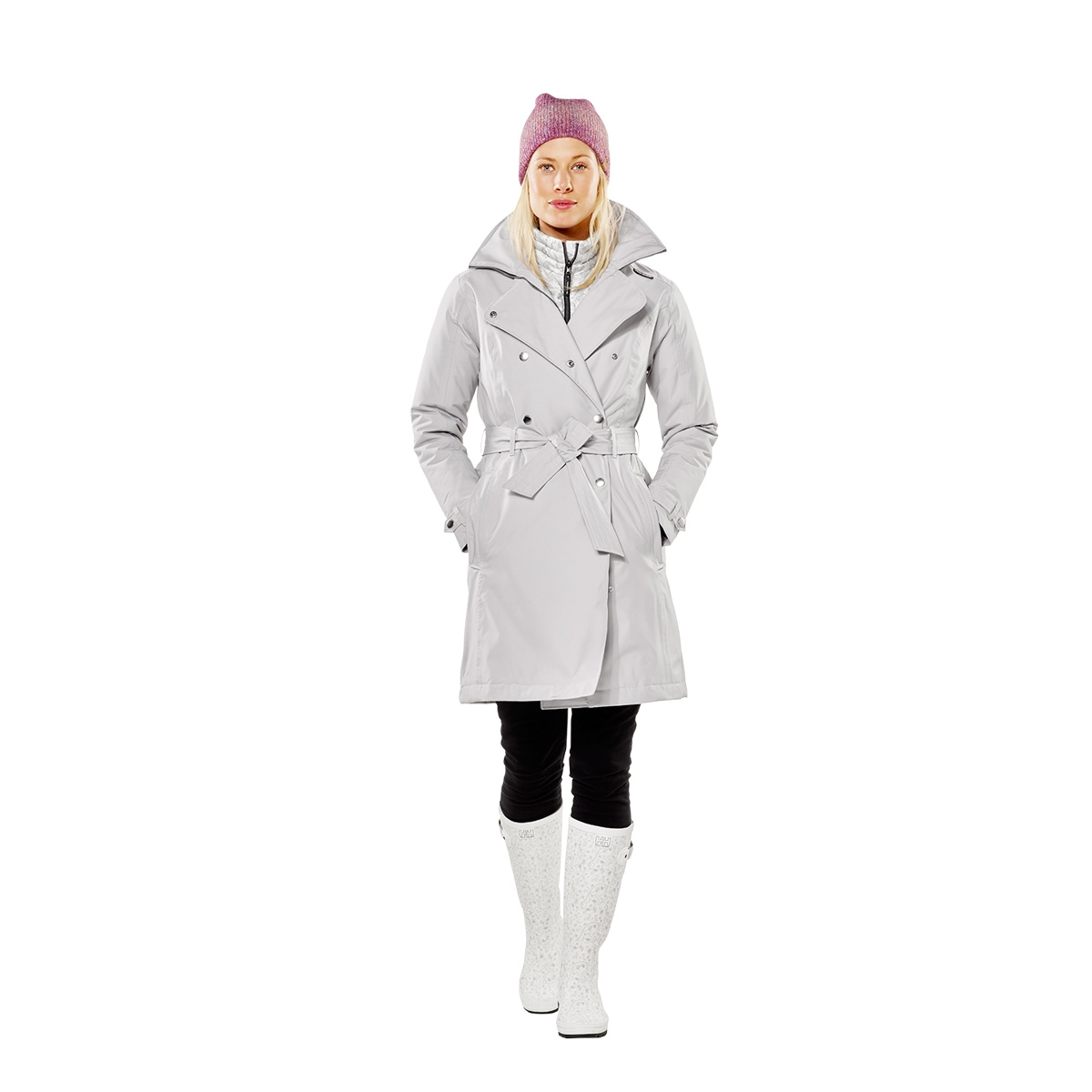 c04195df446 ... Image of Helly Hansen Welsey Insulated Trench Jacket (Women s) - Light  Grey ...