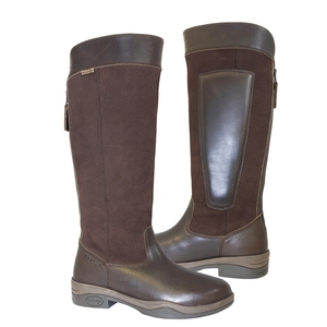 Image of Kanyon Outdoor Clydesdale Waterproof Country Riding Boots (Women's) - Dark Brown Leather / Suede