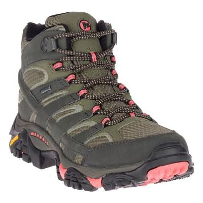 4c9a09bbfb7 Merrell Moab 2 MID GTX Walking Boots (Women's) - Beluga/Olive