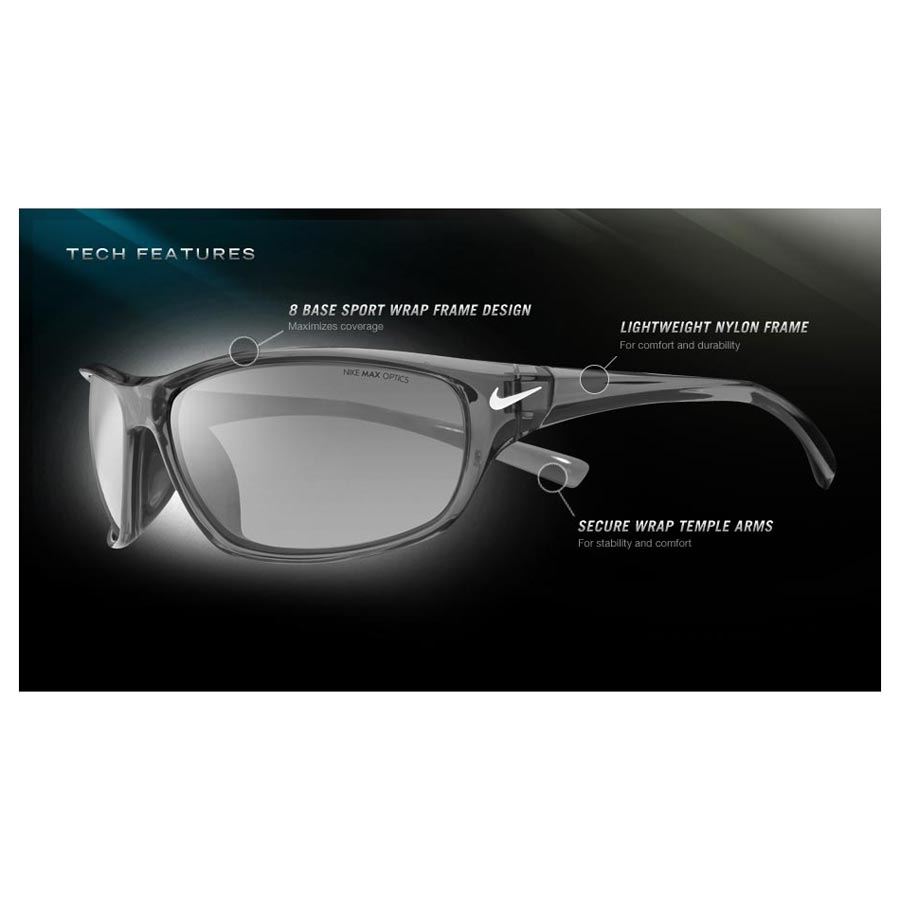 54f22d81166c ... Image of Nike Rabid Men's Polarized Sunglasses - Matte Black / Grey Max  Polarized. «