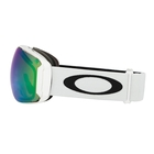 Image of Oakley Airbrake XL Ski Goggles - Polished White Frame/Prizm Jade Iridium & Prizm Sapphire Iridium Lenses