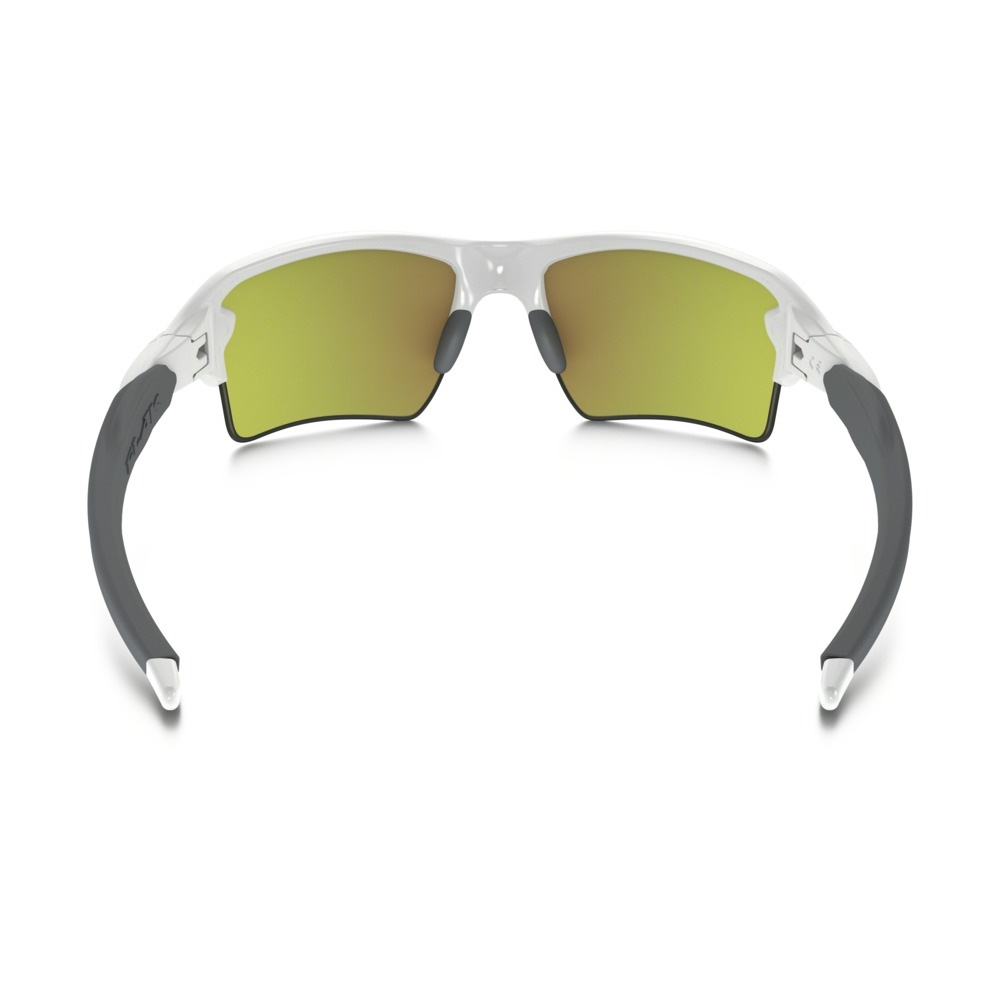 b29700defb ... Image of Oakley Flak 2.0 XL Sunglasses - Polished White Frame Fire  Iridium Lens ...