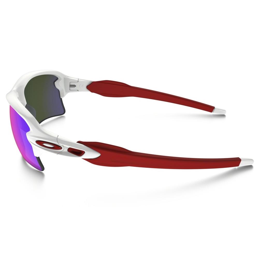 e810b2b801 ... Image of Oakley Flak 2.0 XL Sunglasses - Polished White Frame Positive  Red Iridium Lens ...
