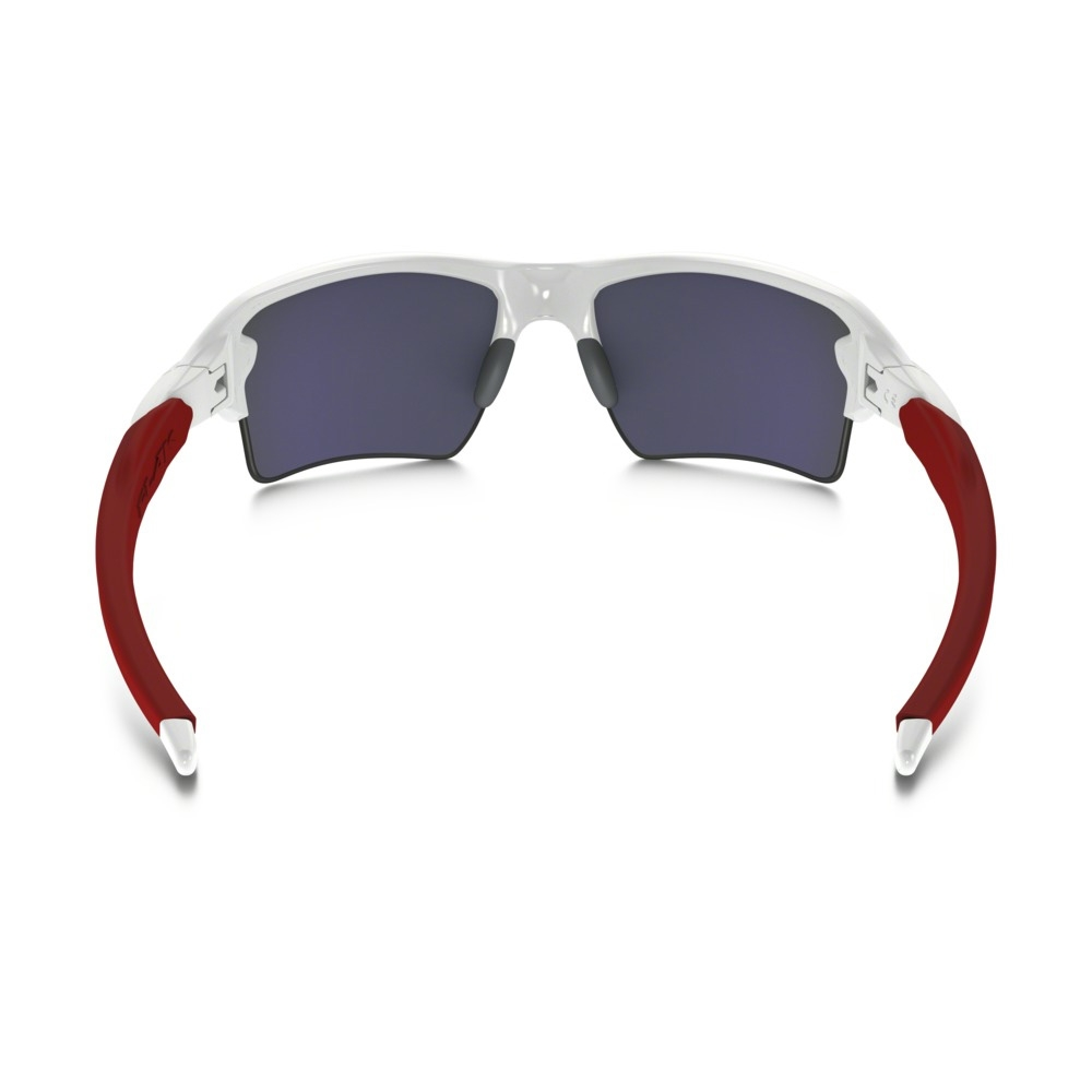 4b13404b67 ... Image of Oakley Flak 2.0 XL Sunglasses - Polished White Frame Positive Red  Iridium Lens ...