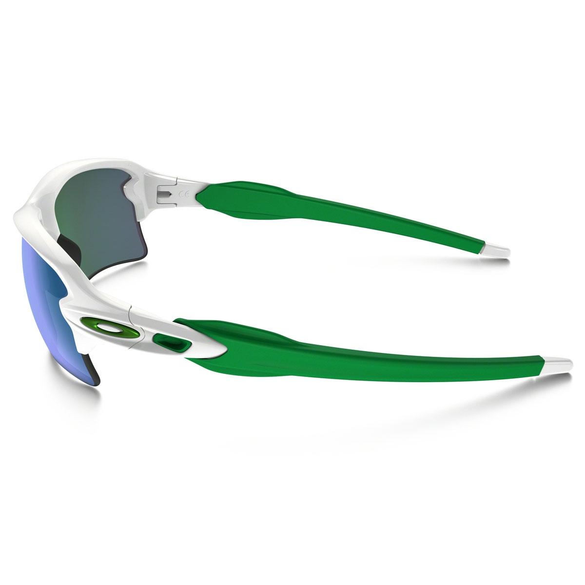 0bf7bacd02 ... Image of Oakley Flak 2.0 XL Sunglasses - Polished White Frame Jade  Iridium Lens ...