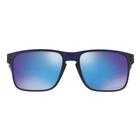 Image of Oakley Holbrook Mix Prizm Sunglasses - Matte Translucent Blue Frame/Prizm Sapphire Lens