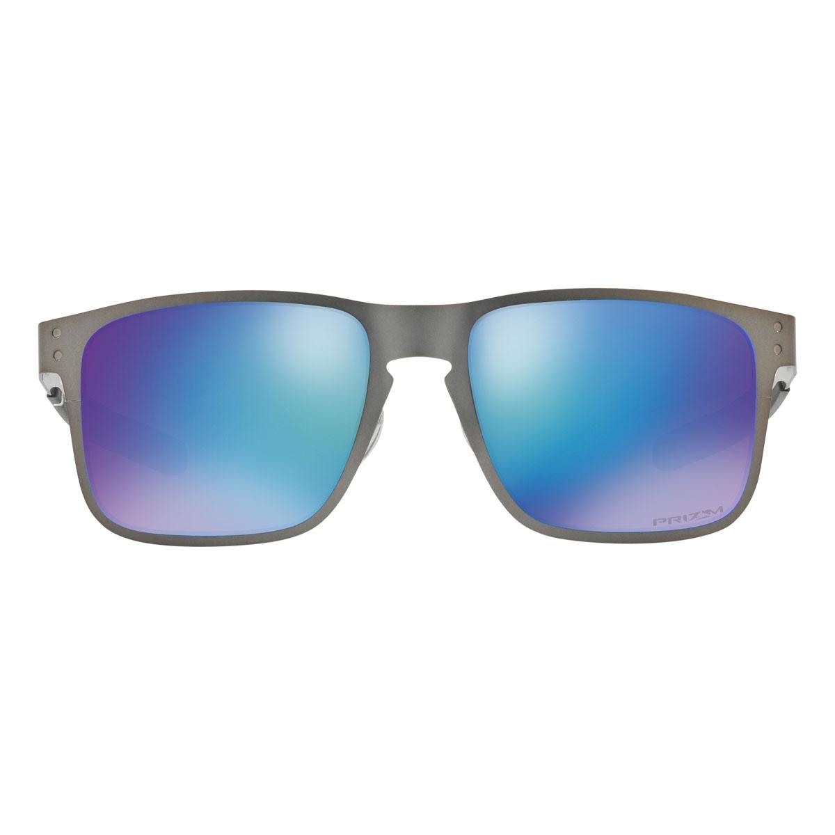 6fd1fb044d ... Image of Oakley Holbrook Prizm Polarised Metal Sunglasses - Matte  Gunmetal Frame Prizm Sapphire Polarised