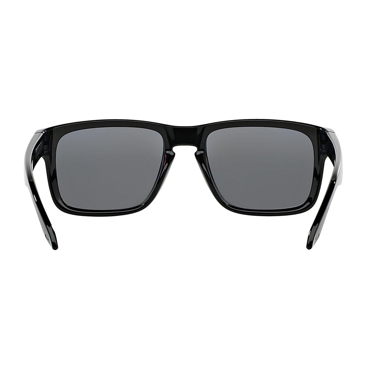 a80c4aa2fd466 ... Image of Oakley Holbrook Sunglasses - Polished Black Frame Grey  Polarized Lens ...