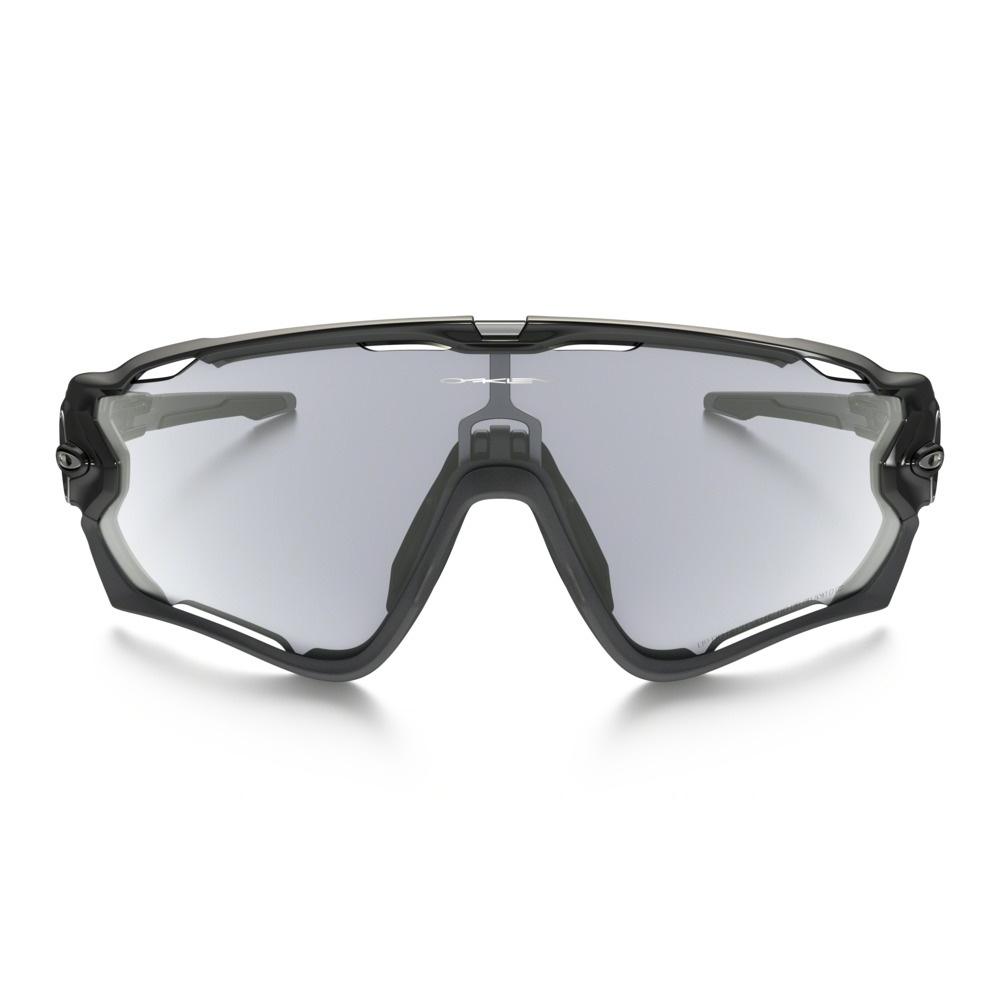36e93b4bf4 ... Image of Oakley Jawbreaker Photochromic Sunglasses - Polished Black  Frame Clear Black Iridium Lens