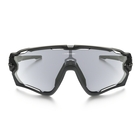 Image of Oakley Jawbreaker Photochromic Sunglasses - Polished Black Frame/Clear Black Iridium Lens