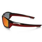 Image of Oakley Straightlink Polarized Men's Sunglasses - Polished Black Frame/Torch Iridium Polarized Lens