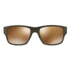 Image of Oakley Jupiter Squared Men's Polarized Sunglasses - Woodgrain Brown Frames/Prizm Tungsten Polarized Lens