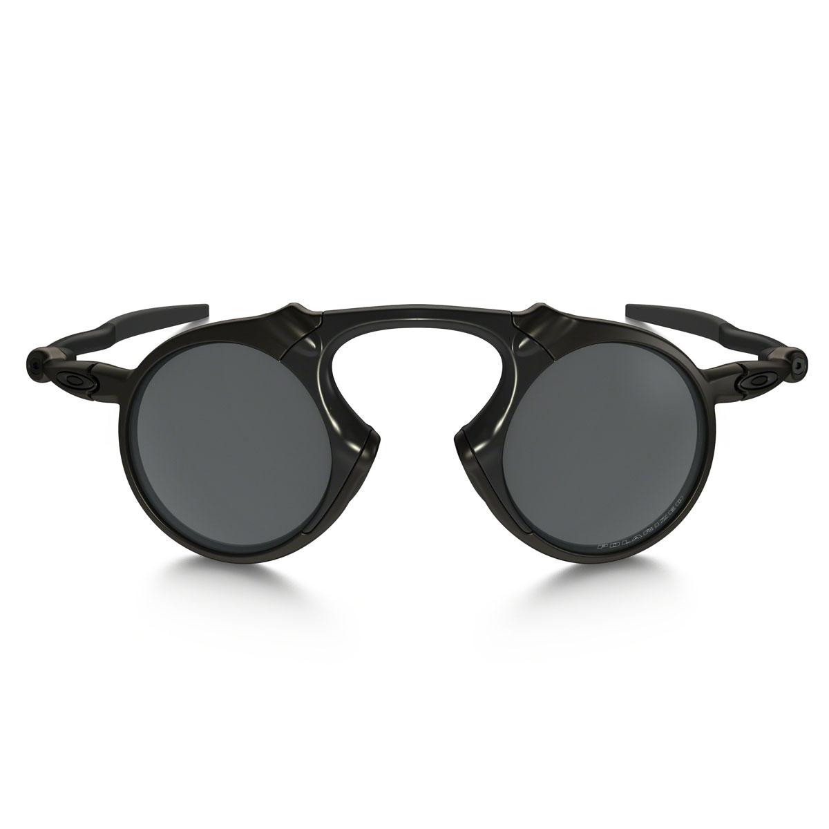 8a48f1a90c7 ... Image of Oakley Madman Polarized Sunglasses - Pewter Frame Black  Iridium Polarized Lens