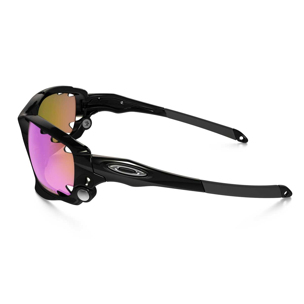 de3b0d3755cb ... Image of Oakley Racing Jacket Vented Sunglasses - Polished Black   Prizm  Trail ...