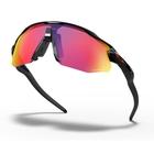 Image of Oakley Radar EV Advancer Prizm Glasses - Polsihed Black Frame / PRIZM Road Lens