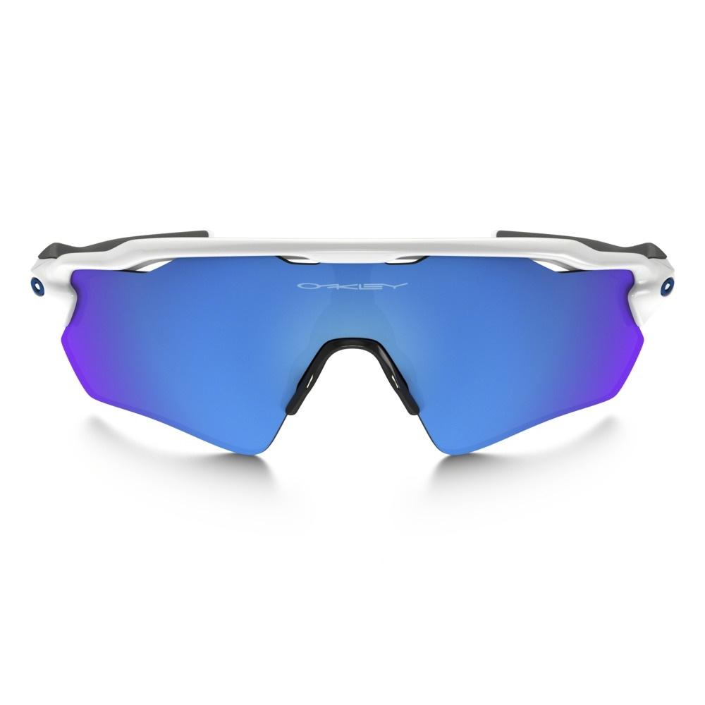 e3ca4bcb46c ... Image of Oakley Radar EV Path Sunglasses - Polished White  Frame Sapphire Iridium Lens