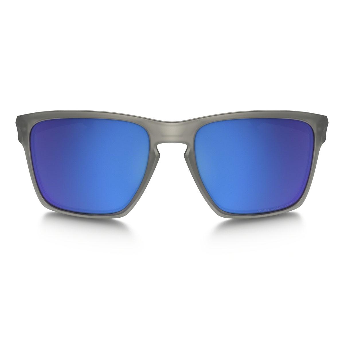 5d335d02ffe ... Image of Oakley Sliver XL Polarized Sunglasses - Matte Grey Frame    Sapphire Iridium Lens