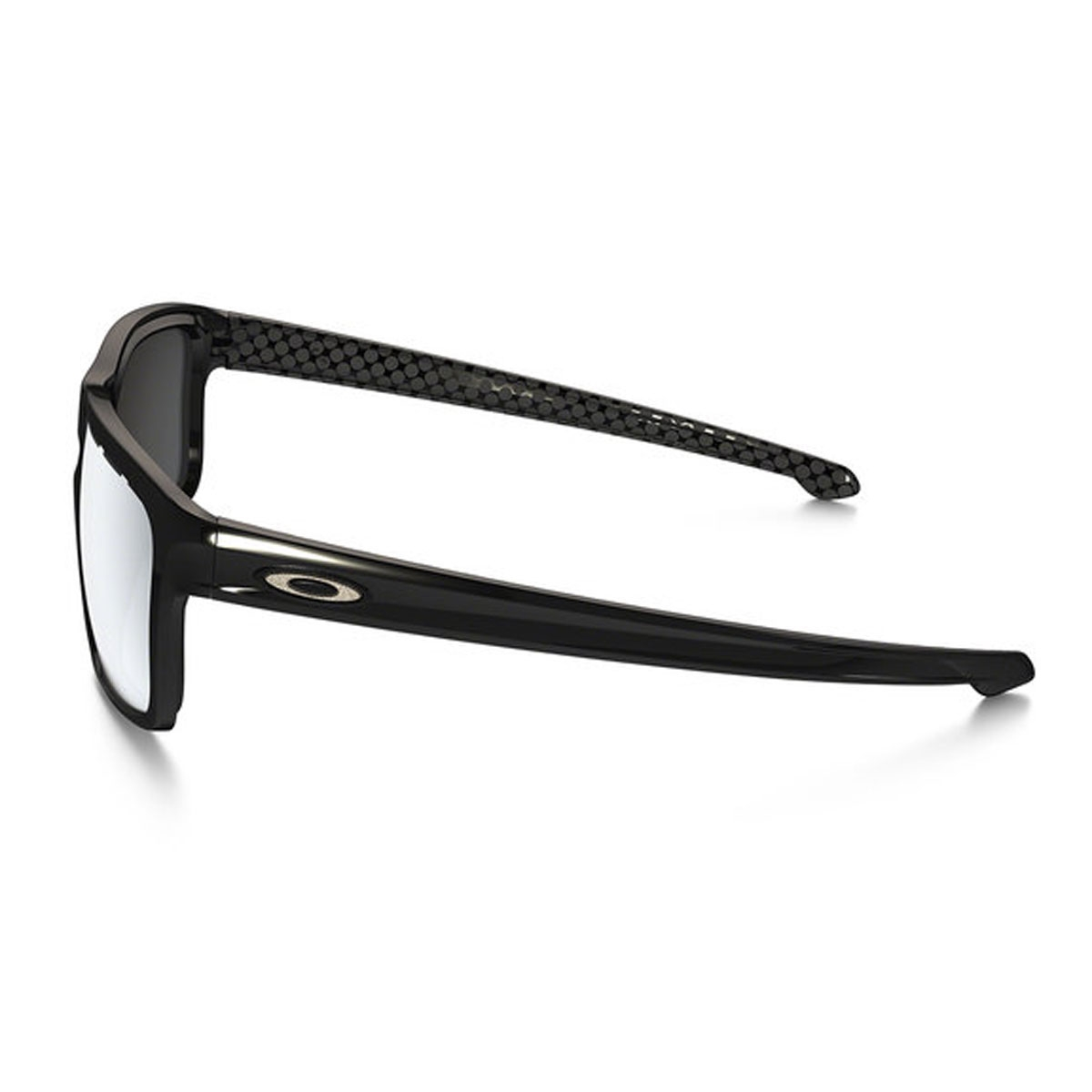 2e3b7a9194 ... Image of Oakley Sliver Men s Sunglasses - Polished Black Frames Chrome  Iridium Vented Len ...