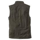 Image of Orvis Sandanona Wax Cloth Vest (Men's) - Dark Green