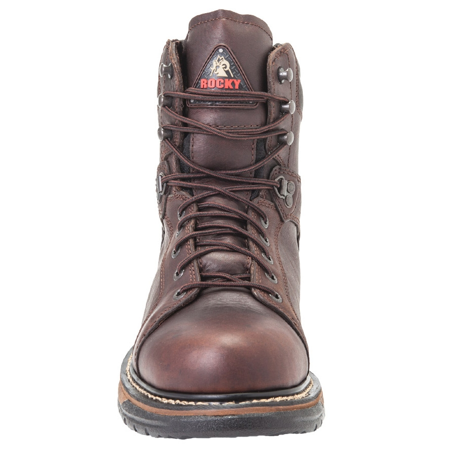 2327b6f54d3 Rocky Ironclad 8 Inch WP Leather Lace to Toe Boots - Brown