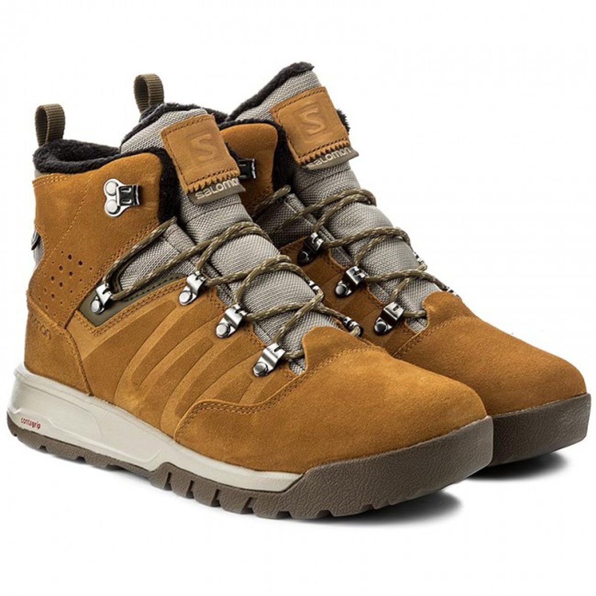 3df907c3b252 ... Image of Salomon Utility TS CSWP Walking Boots (Men s) - Vintage Kaki  Rawhide