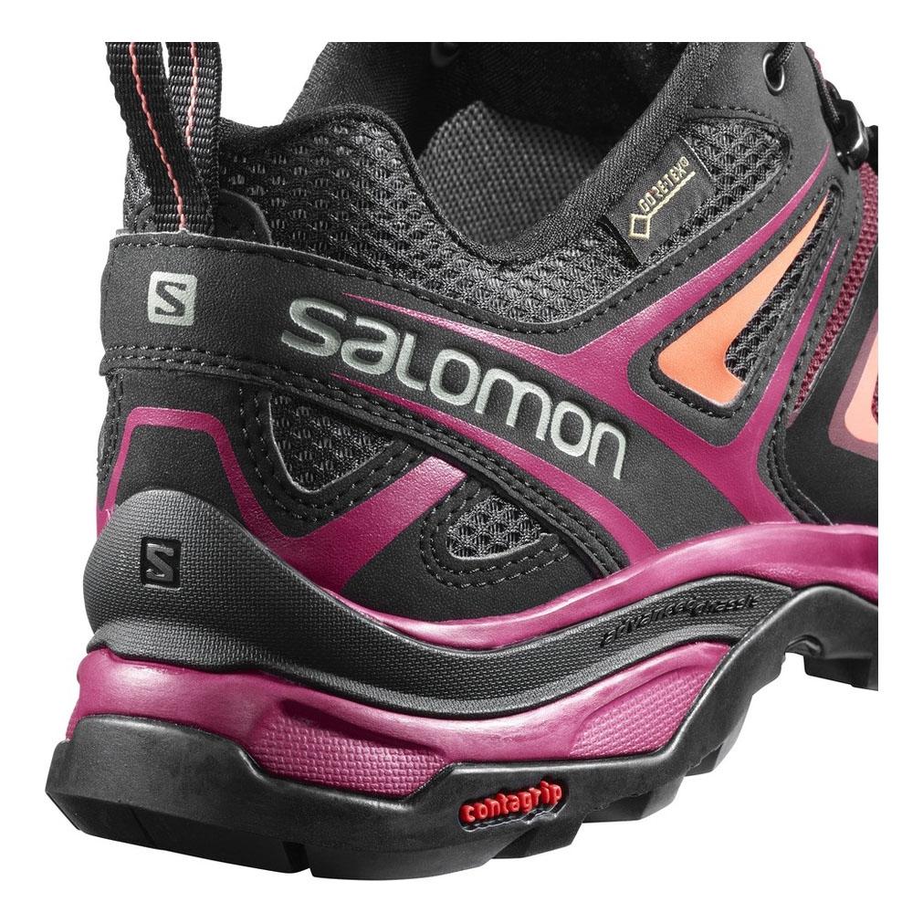 eb8ee44f Salomon X Ultra 3 GTX Walking Shoes (Women's) - Tawny Port/Black/Living  Coral