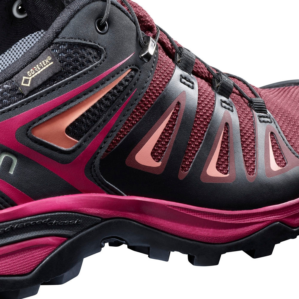 outlet store 6268e 73cc4 Salomon X Ultra 3 GTX Walking Shoes (Women's) - Tawny Port/Black/Living  Coral