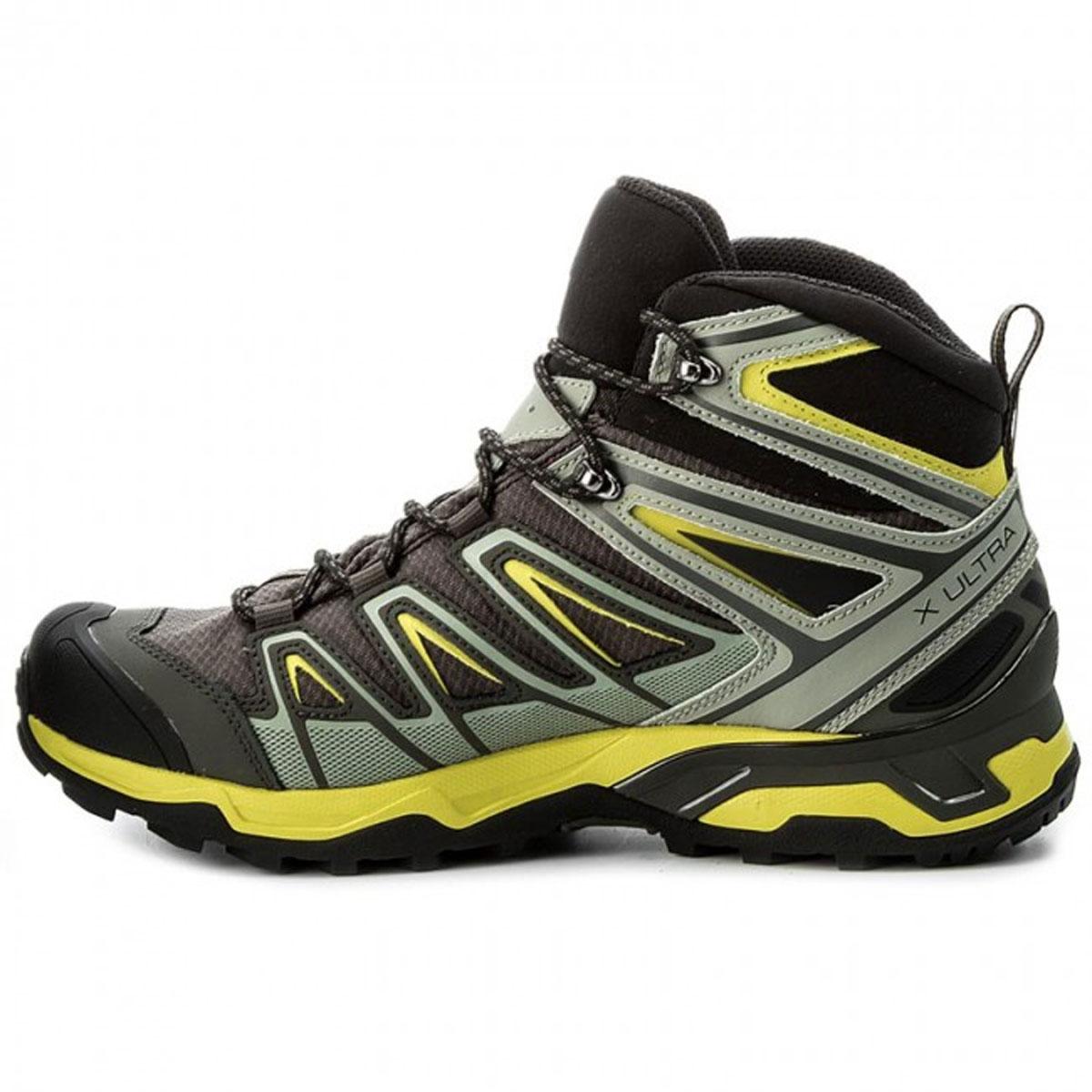 Salomon X Ultra 3 Mid GTX Gore Tex Men's Trekking Boots, BelugaShadowSulphur Spring Bike Sport Adventure