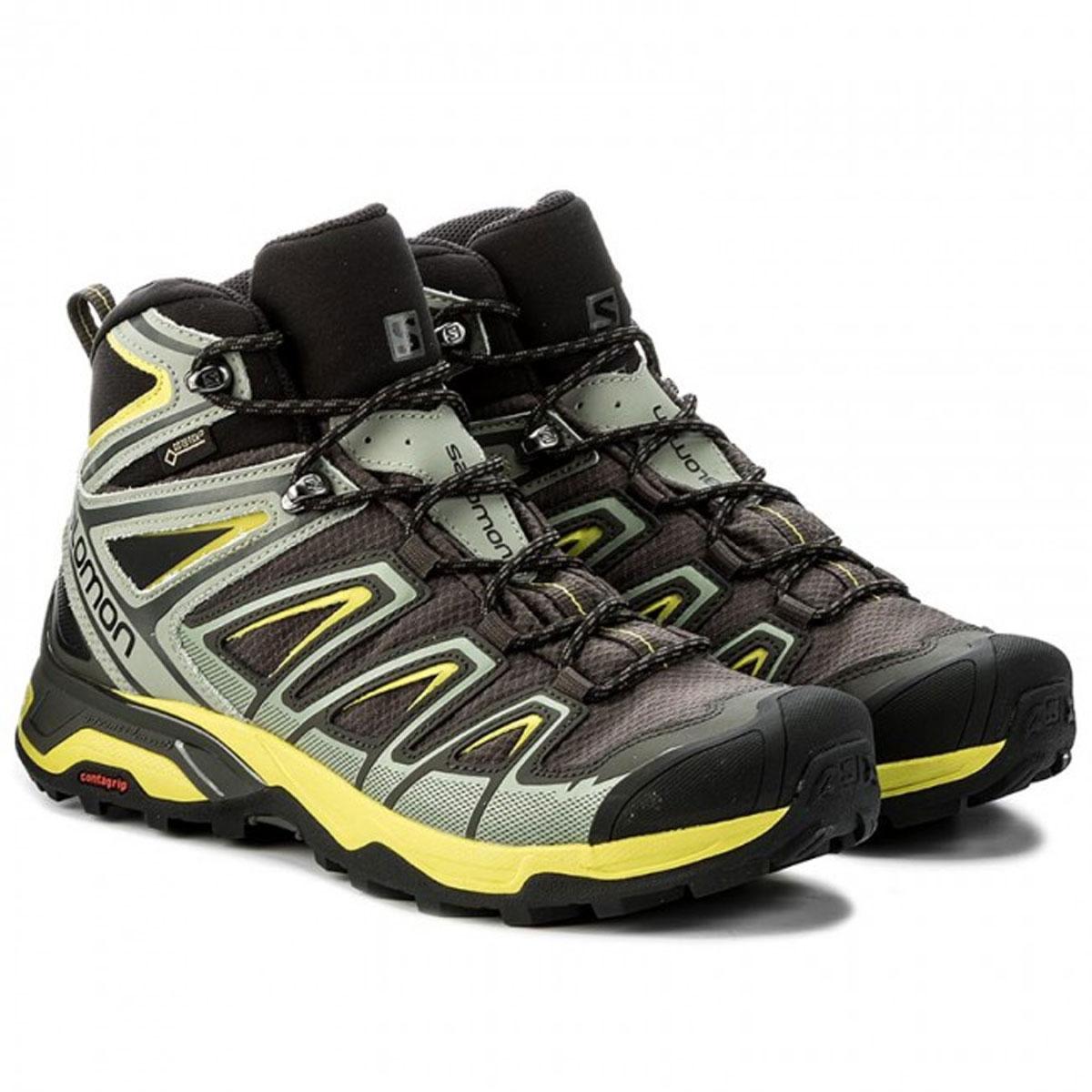 huge selection of 9100d adfc5 Salomon X Ultra Mid 3 GTX Walking Boots (Men's) - Beluga/Shadow/Sulphur  Spring