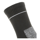 Image of SealSkinz Solo Quick Dry Ankle Length Single Layer Socks - Black/Grey