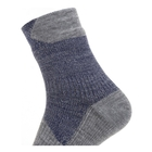 Image of SealSkinz Waterproof All Weather Ankle Length Socks - Navy Blue/Grey Marl